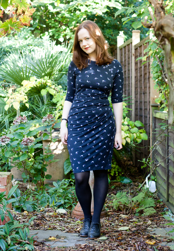 warehouse-bird-print-dress-