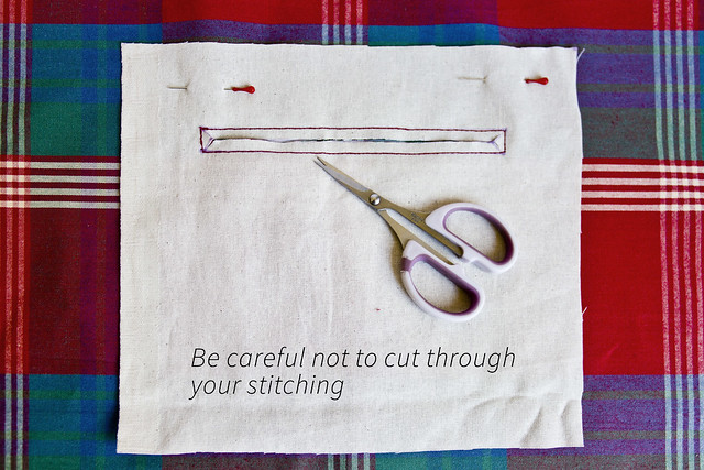 Cut your pocket opening