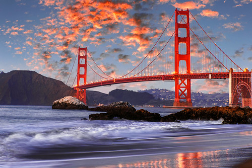 Sunset at Golden Gate Bridge from Baker Beach _DSC0513