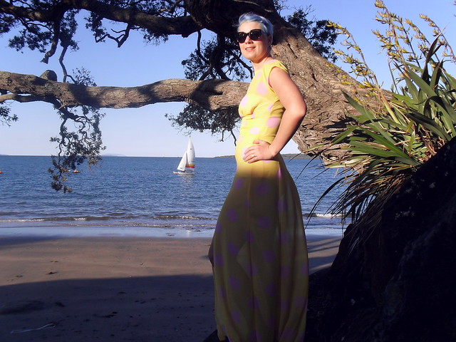 Anna dress, Narrow Neck beach