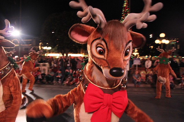 A Christmas Fantasy parade 2013 at Disneyland