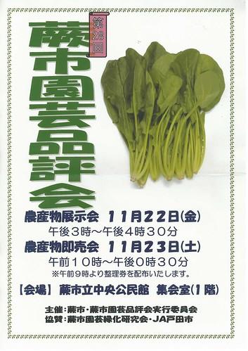 201311_蕨市園芸品評会ポスター