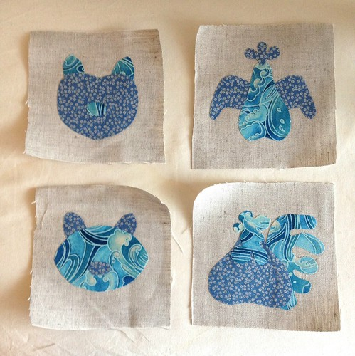 Applique coasters in progress
