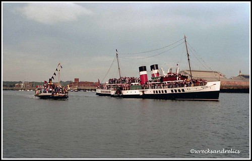 Three Paddle Steamers on the River Medway, 28th September 1986