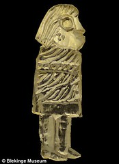 Figurine made from Roman gold coins