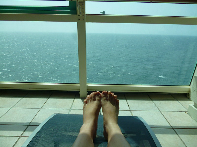 Relaxing on a cruise