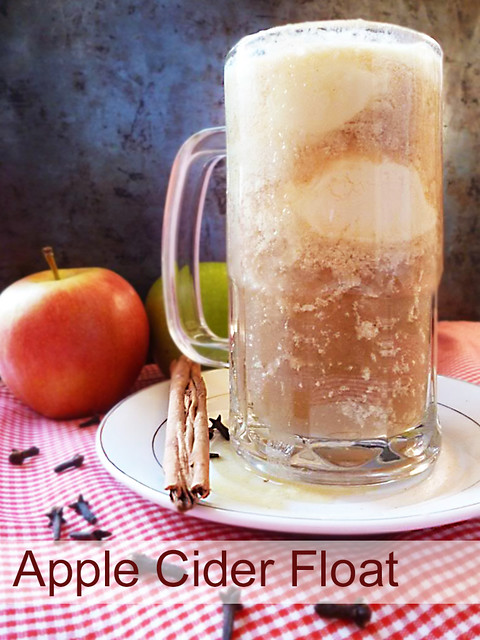Raspberry Bloom: Apple Cider Float