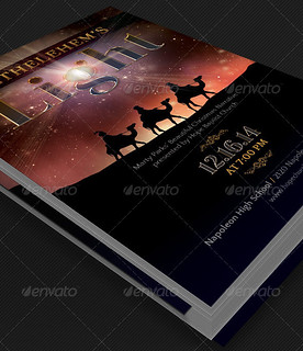 Bethlehems Light Cantata Flyer Template