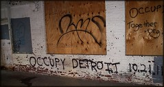 Sign: Occupy Detroit, Congress Street Detroit