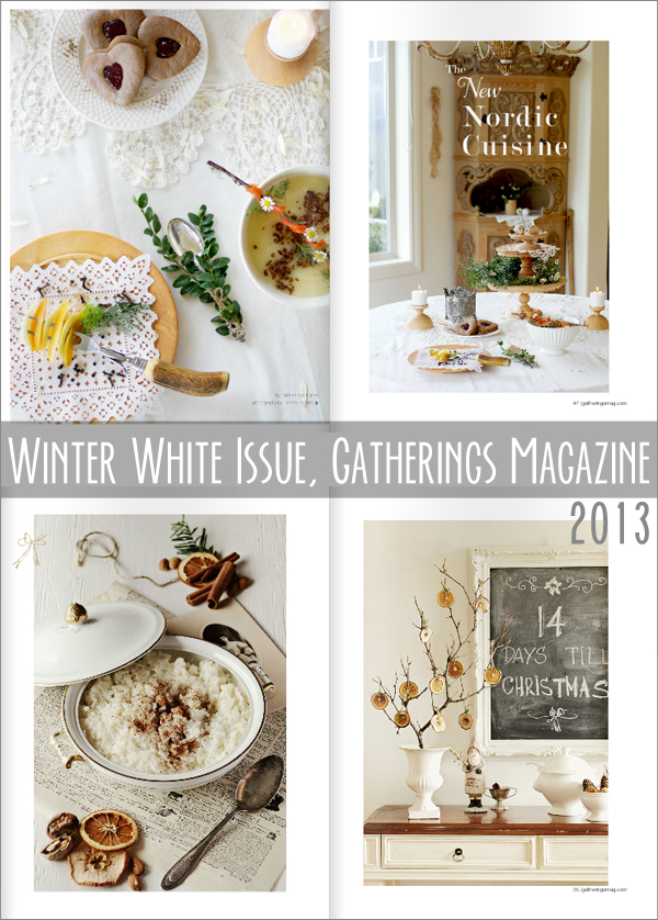 good reads : Winter White Issue, Gatherings Magazine 2013 | Emma Lamb