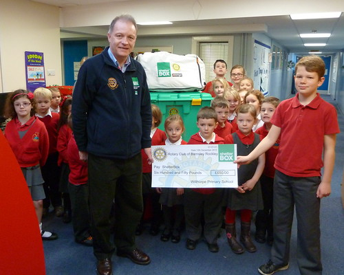 Wilthorpe Primary School Barnsley - Cheque Presentation to ShelterBox Philippines Typhoon Haiyan Appeal