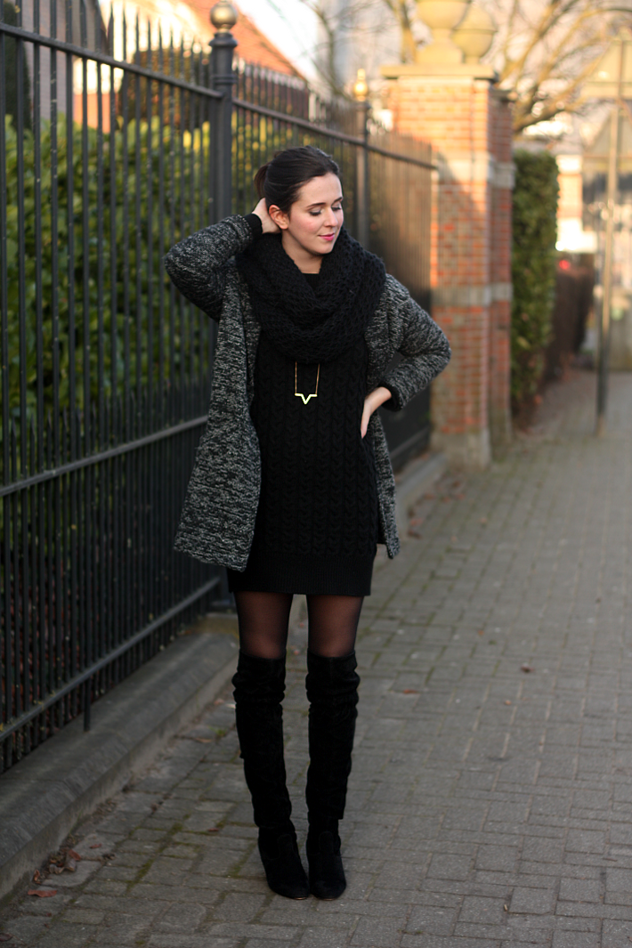 c1c2f4c8648 Sweater Dress and Over The Knee Boots - THE STYLING DUTCHMAN.