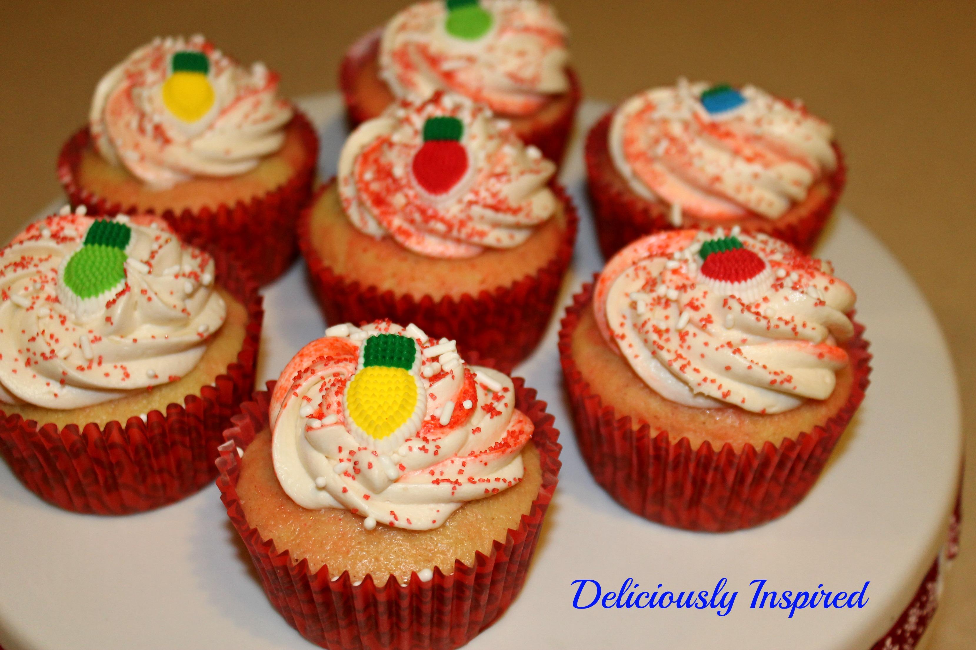 Vanilla Swirl Cupcakes with Cream Cheese Frosting - pic branding