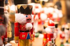 decorative nutcracker, red,