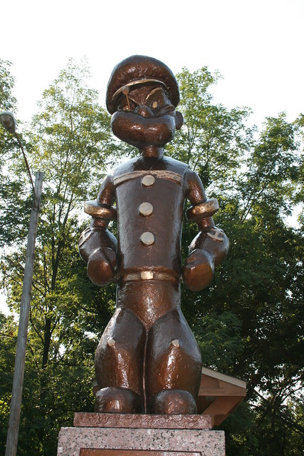 Popeye Statue in Chester, Illinois