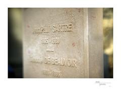 Grave of Jean-Paul Satre and Simone de Beauvoir in the Cimitière du Montparnasse, Paris