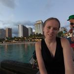 Emily on the Waikiki pier
