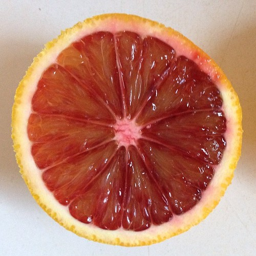 It's blood orange season! #orange #citrus #nofilter