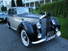 automobile, vehicle, rolls-royce silver dawn, mid-size car, antique car, sedan, classic car, vintage car, land vehicle, luxury vehicle,