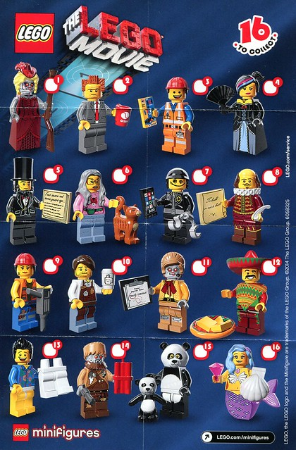 71004 LEGO Minifigures The LEGO Movie Series INS1