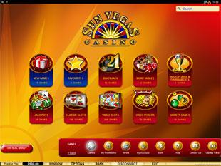 Sun Vegas Casino Lobby