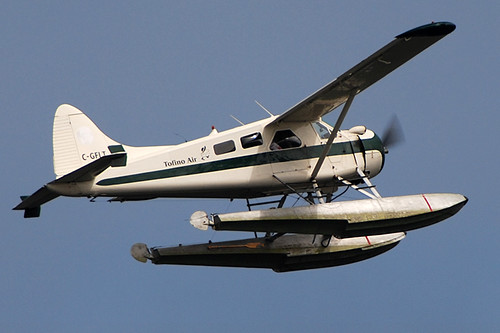 Floatplane departs Tofino, West Coast Vancouver Island, British Columbia