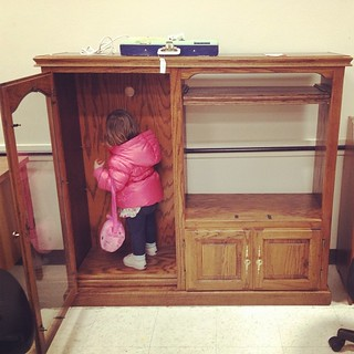 Claire's future play kitchen! We may be insane for taking this on right now...