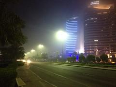 Fog in Salmiya, Kuwait