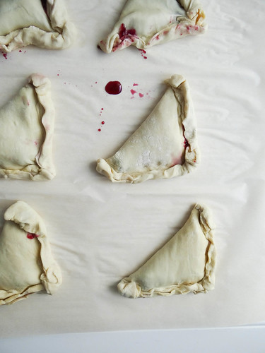 blueberry turnovers // maple miso drizzle