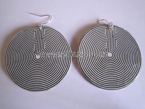 Handmade Jewelry - Card Paper Disk Earrings (1) by fah2305
