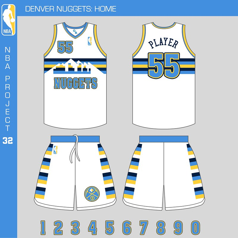 The New Denver Nuggets Home And Away Uniforms, Posted On