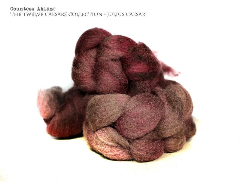 Oatmeal BFL hand dyed felting fibre