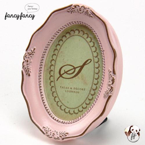 76.歐式仿古三用小相框(壁掛、立架、磁鐵)-粉紅色(兩個一組)