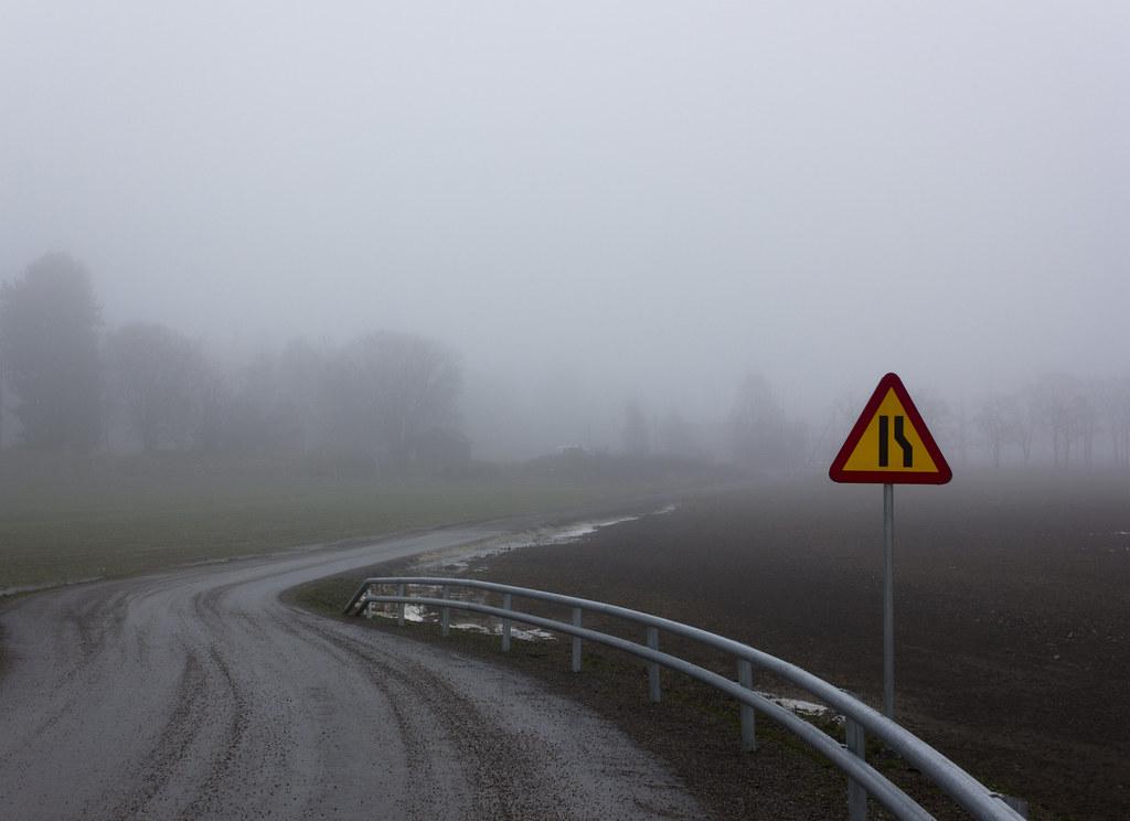 Avsmalnande väg