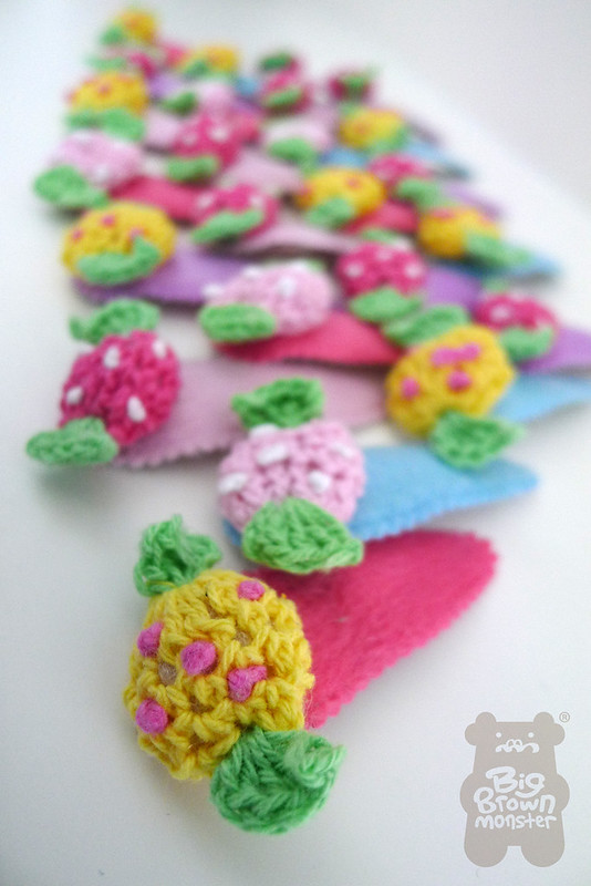 Candy crochet clips