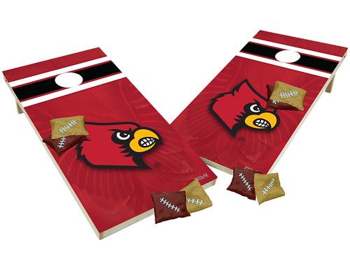 Louisville Cardinals Custom Cornhole Boards XL