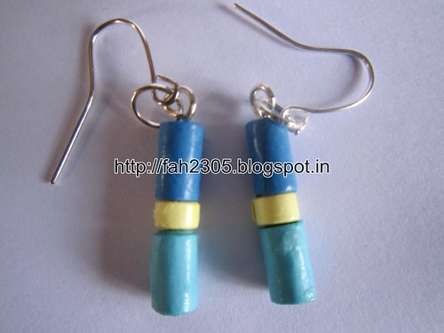 Handmade Jewelry - Paper Beads Earrings (10) by fah2305