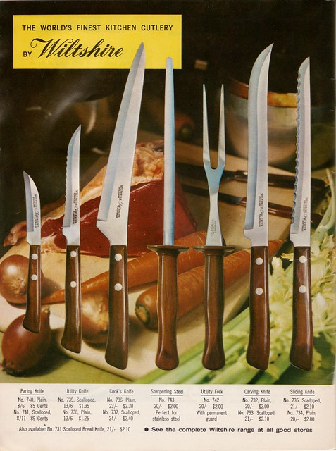 Wiltshire knives ad - From a 60s meat industry cookbook