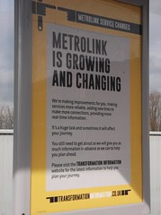 Metrolink posted at Freehold stop