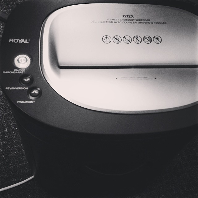 Oh I heart my shredder. #100happydays