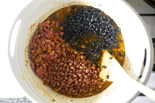 three beans