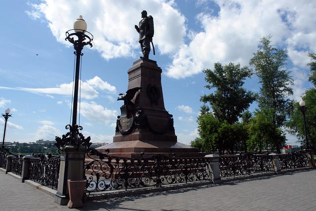 Monumento junto al paseo por el Río Angara Irkutsk, la venecia siberiana de Rusia - 13829663414 0607a523bb z - Irkutsk, la venecia siberiana de Rusia