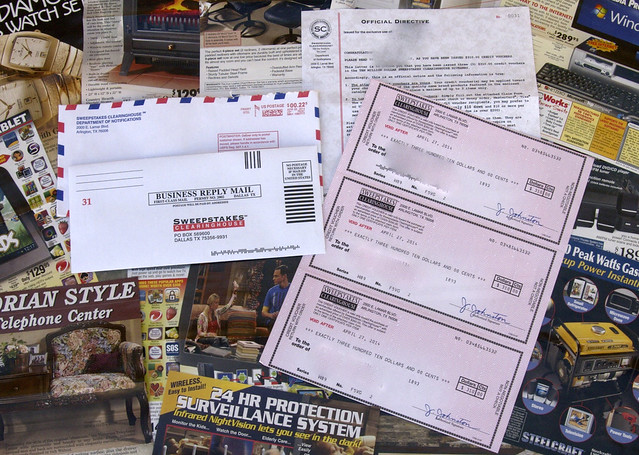 sweepstakes clearinghouse vouchers postoffice drowning in junk mail 2397