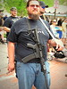 Open-carry activist, Main St. Arts Festival, downtown Fort Worth, April 12, 2014