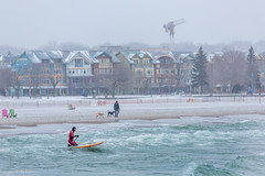 Heading out on to Lake Ontario in a -17*C snow storm - Woodbine Beach, Toronto