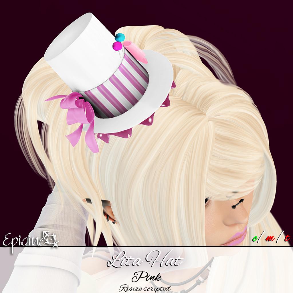 Epicine - Lita Hat - Pink - SecondLifeHub.com