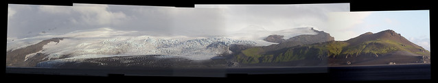 Panorama from Nares Glacier (left) to Mt. Drygalski (right) from the Atlas Cove camp.  This view spans from ESE through SSW, and is roughly 85 megapixels at full size.  Image credit: Bill Mitchell (CC-BY, hosted on flickr).