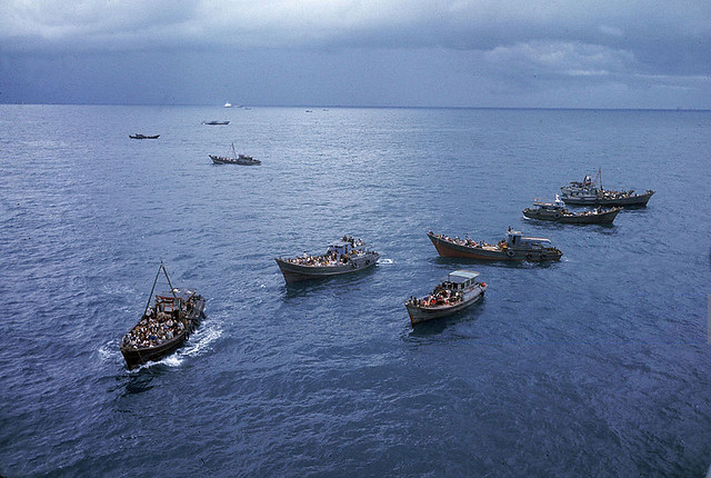 1975 Fall of Saigon - South Vietnamese refugees