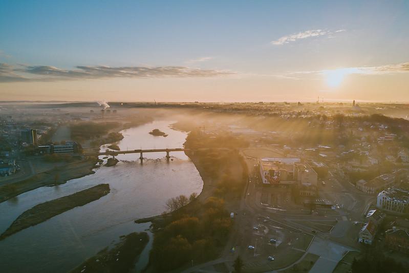 Spring Fog | Kaunas Aerial
