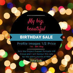 Project Puppet Portraits Birthday Sale 2017